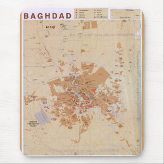 Map of Baghdad, Iraq (2003) Mouse Mat