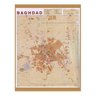 Map of Baghdad, Iraq (2003) Postcard