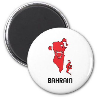Map Of Bahrain Magnet