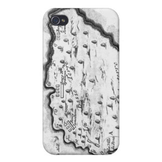 Map of Barbados Case For iPhone 4