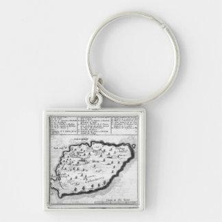 Map of Barbados Key Ring