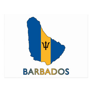 Map Of Barbados Postcard