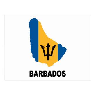 Map Of Barbados Postcard