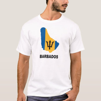 Map Of Barbados T-Shirt