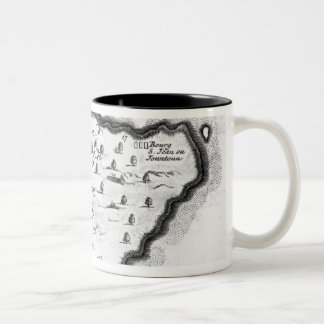 Map of Barbados Two-Tone Coffee Mug