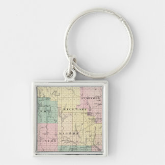 Map of Barron County, State of Wisconsin Key Ring