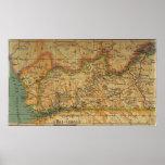 Map of Bas Congo - Belgian Congo 1913 Posters