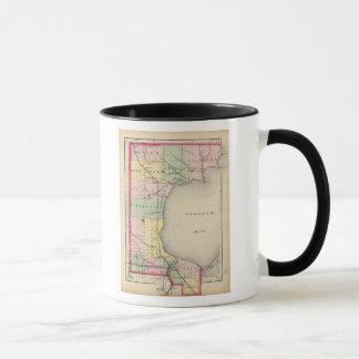 Map of Bay County, Michigan Mug