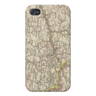 Map of Belgium and Luxembourg Cover For iPhone 4