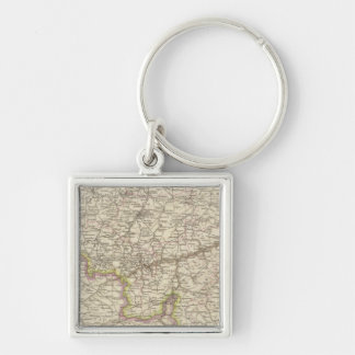Map of Belgium and Luxembourg Key Ring