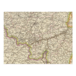 Map of Belgium and Luxembourg Postcard