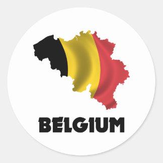 Map Of Belgium Classic Round Sticker