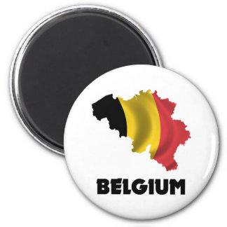 Map Of Belgium 6 Cm Round Magnet