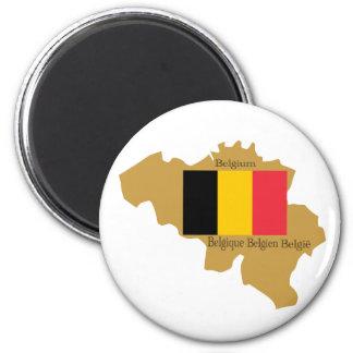 Map of Belgium Magnet