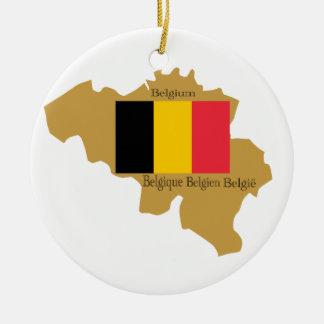 Map of Belgium Ornament