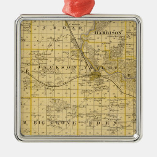 Map of Benton County, State of Iowa Christmas Ornament