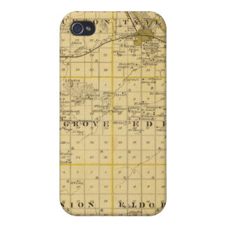 Map of Benton County, State of Iowa Cover For iPhone 4