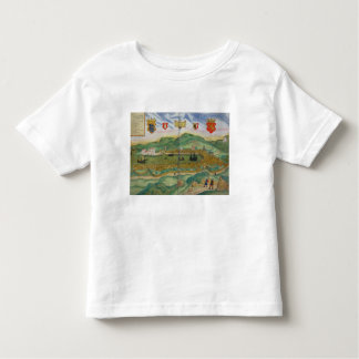 Map of Bergen, from 'Civitates Orbis Terrarum' by Toddler T-Shirt