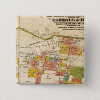 Map of Berkeley 15 Cm Square Badge