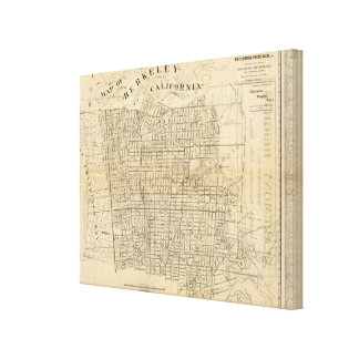 Map of Berkeley, California Canvas Print