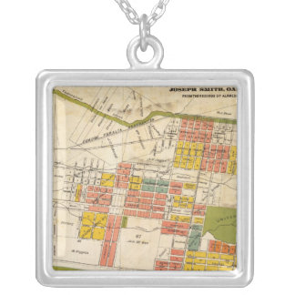 Map of Berkeley Silver Plated Necklace