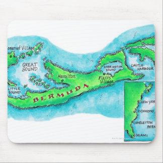 Map of Bermuda Mouse Mat