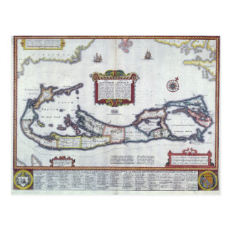 Map of Bermuda Postcard