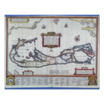 Map of Bermuda Poster