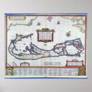 Map of Bermuda Poster