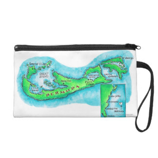 Map of Bermuda Wristlet