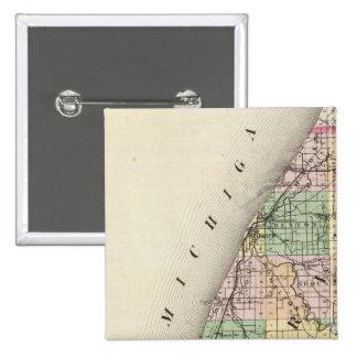 Map of Berrien County, Michigan 15 Cm Square Badge