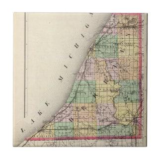 Map of Berrien County, Michigan Tile