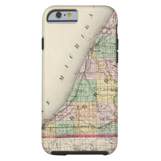 Map of Berrien County, Michigan Tough iPhone 6 Case