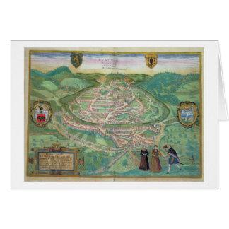 Map of Besancon, from 'Civitates Orbis Terrarum' b Card