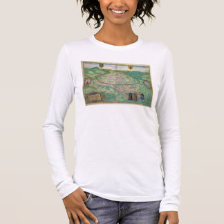 Map of Besancon, from 'Civitates Orbis Terrarum' b Long Sleeve T-Shirt