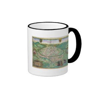 Map of Besancon, from 'Civitates Orbis Terrarum' b Ringer Coffee Mug