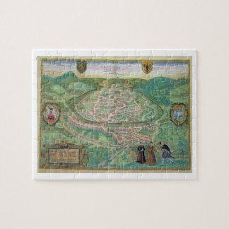 Map of Besancon, from 'Civitates Orbis Terrarum' b Puzzles
