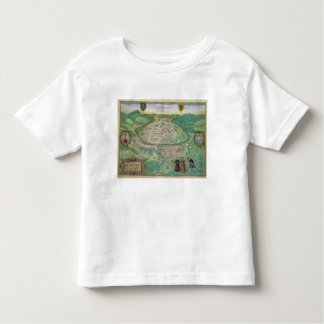 Map of Besancon, from 'Civitates Orbis Terrarum' b Toddler T-Shirt