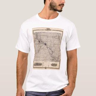 Map of Black Hawk County, State of Iowa T-Shirt