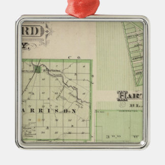 Map of Blackford County with Montpelier Christmas Ornament