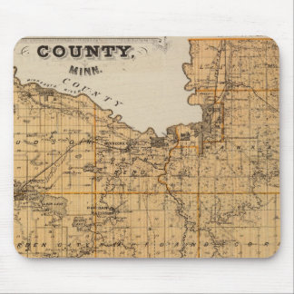 Map of Blue Earth County, Minnesota Mouse Mat