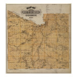 Map of Blue Earth County, Minnesota Poster
