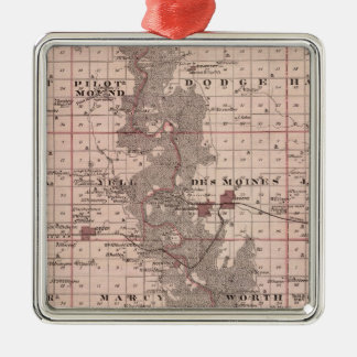 Map of Boone County, State of Iowa Christmas Ornament