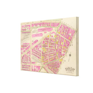 Map of Boston 11 Canvas Print