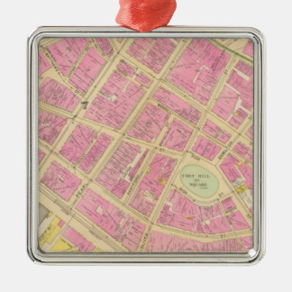 Map of Boston 12 Christmas Ornament