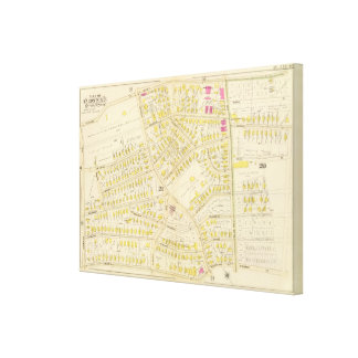 Map of Boston 13 Canvas Print