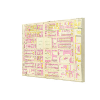 Map of Boston 14 Canvas Print