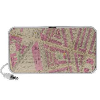 Map of Boston 14 Laptop Speakers