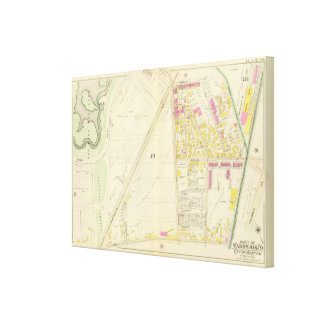Map of Boston 17 Canvas Print
