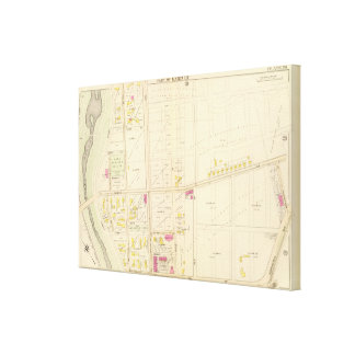 Map of Boston 22 Canvas Print